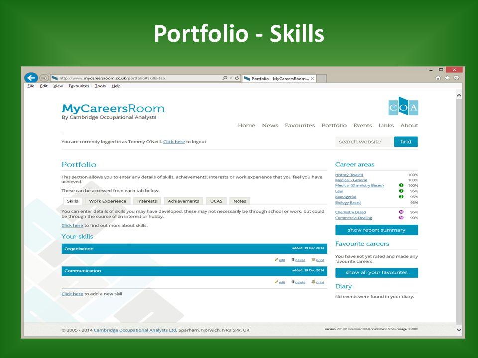 Portfolio - Skills