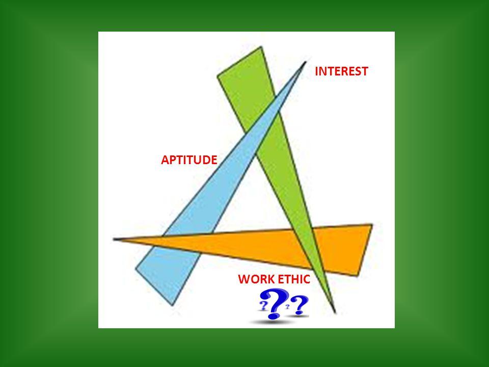 INTEREST APTITUDE WORK ETHIC