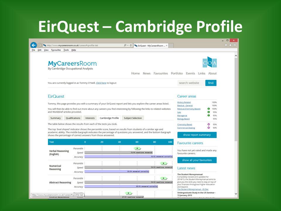 EirQuest – Cambridge Profile