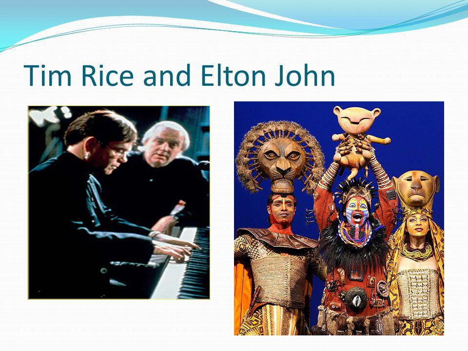 Tim Rice and Elton John