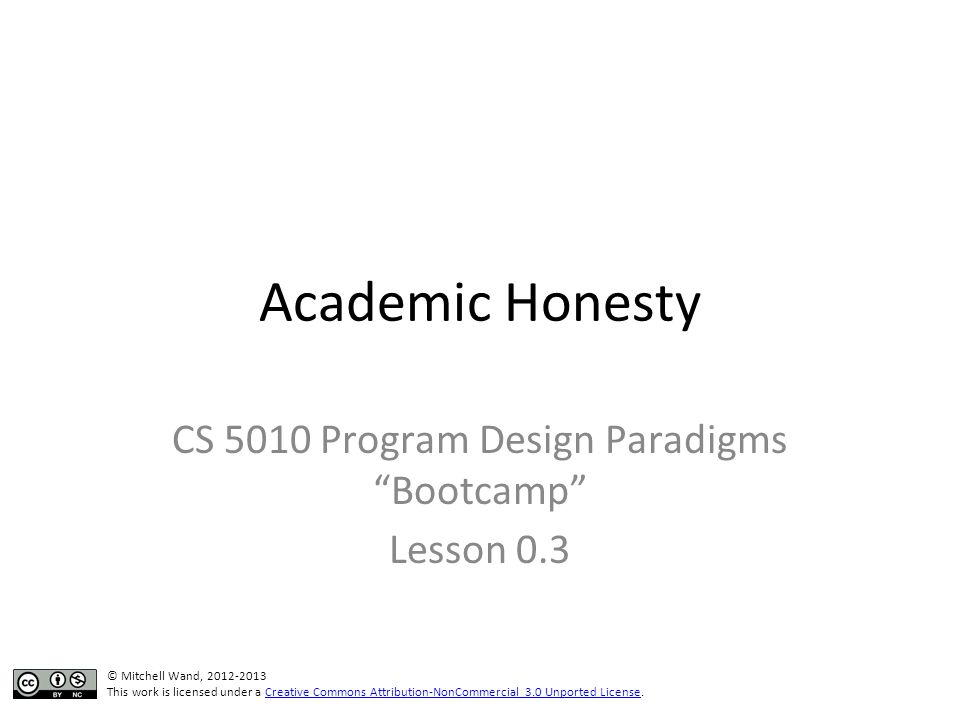 Why is Academic Honesty Important.