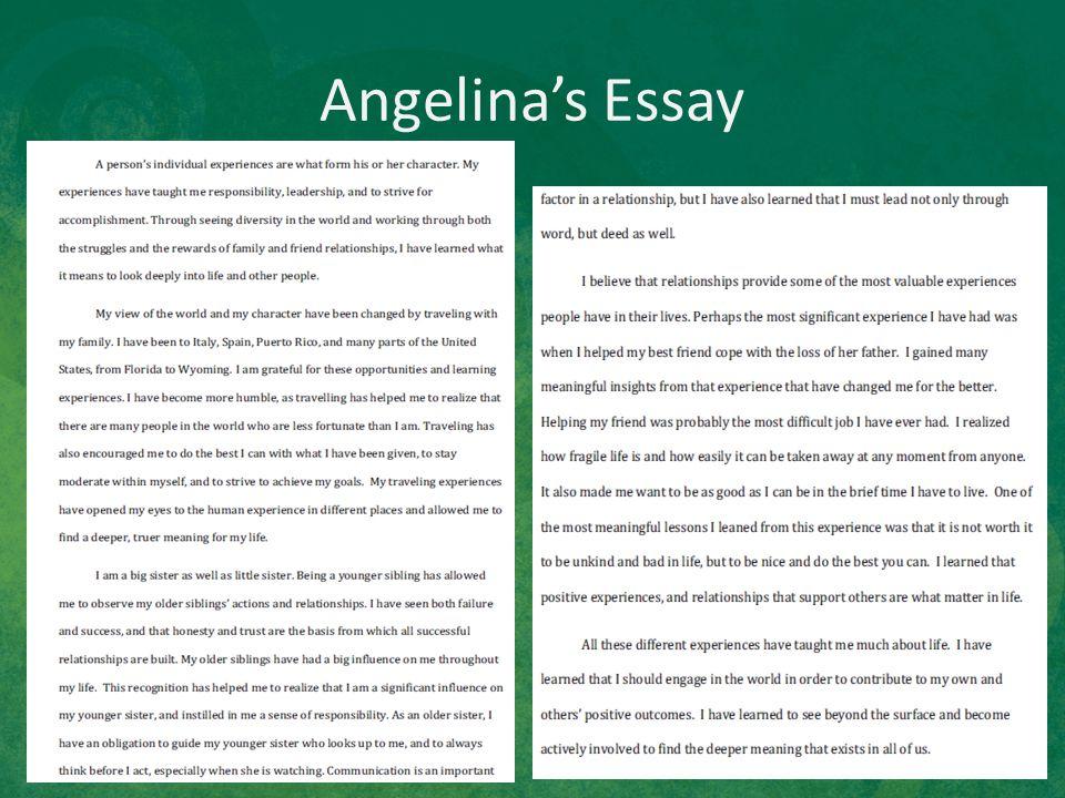 Angelina's Essay