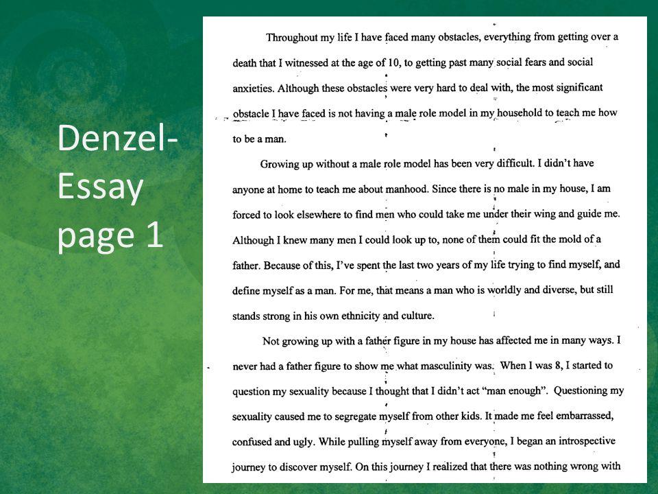 Denzel- Essay page 1
