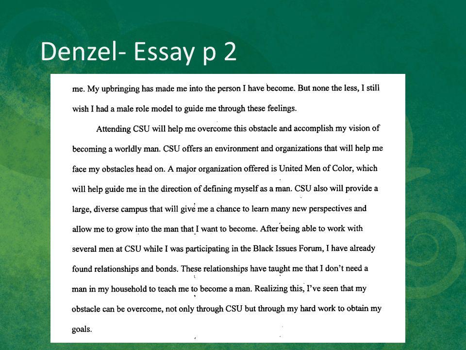 Denzel- Essay p 2