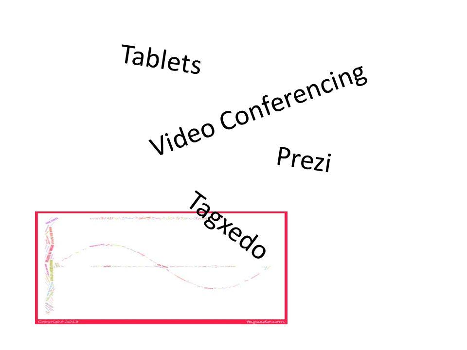Video Conferencing Tagxedo Prezi Tablets