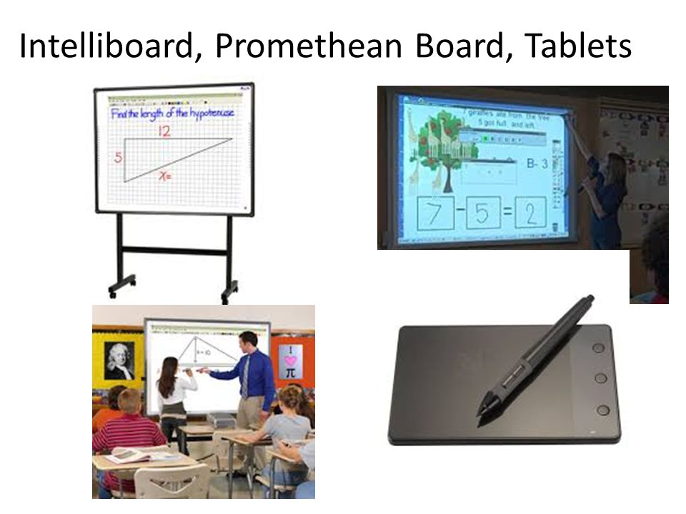 Intelliboard, Promethean Board, Tablets