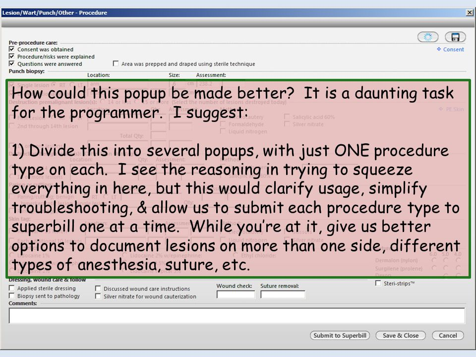 How could this popup be made better. It is a daunting task for the programmer.