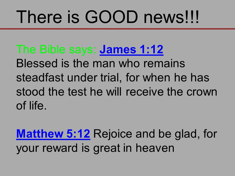 There is GOOD news!!.