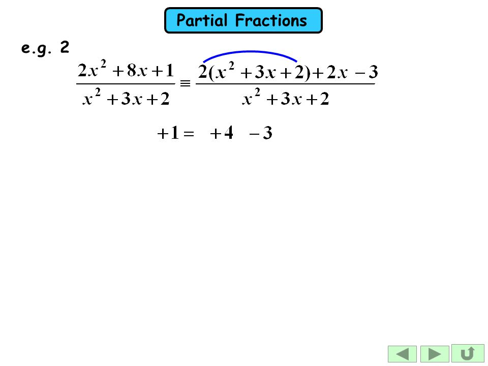 Partial Fractions e.g. 2