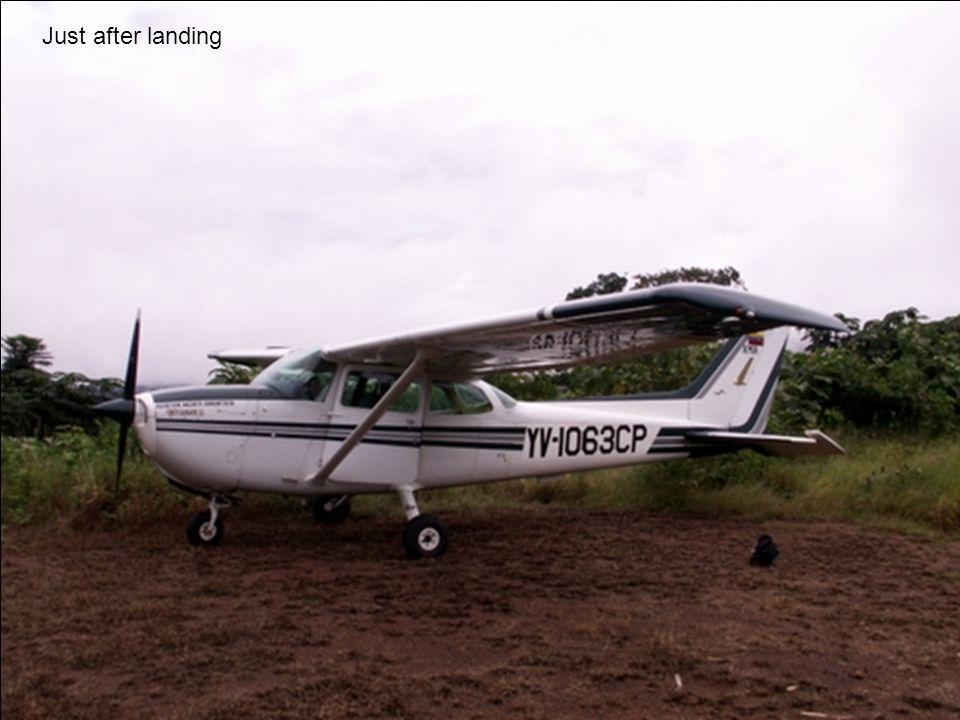 Just after landing