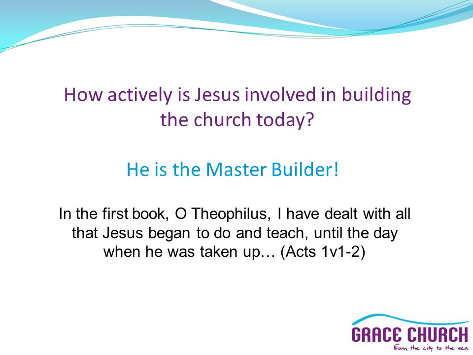 How actively is Jesus involved in building the church today.