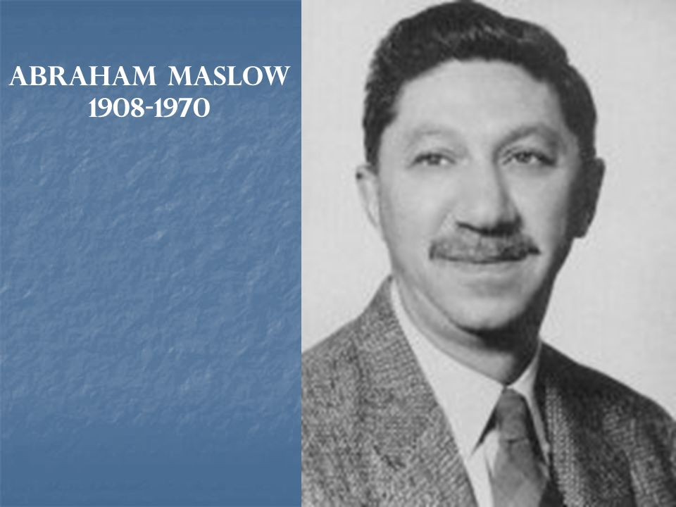 Abraham Maslow 1908-1970
