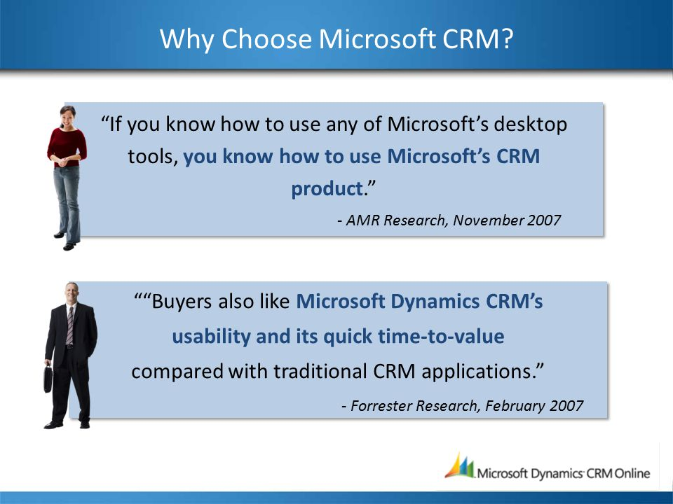 Why Choose Microsoft CRM.