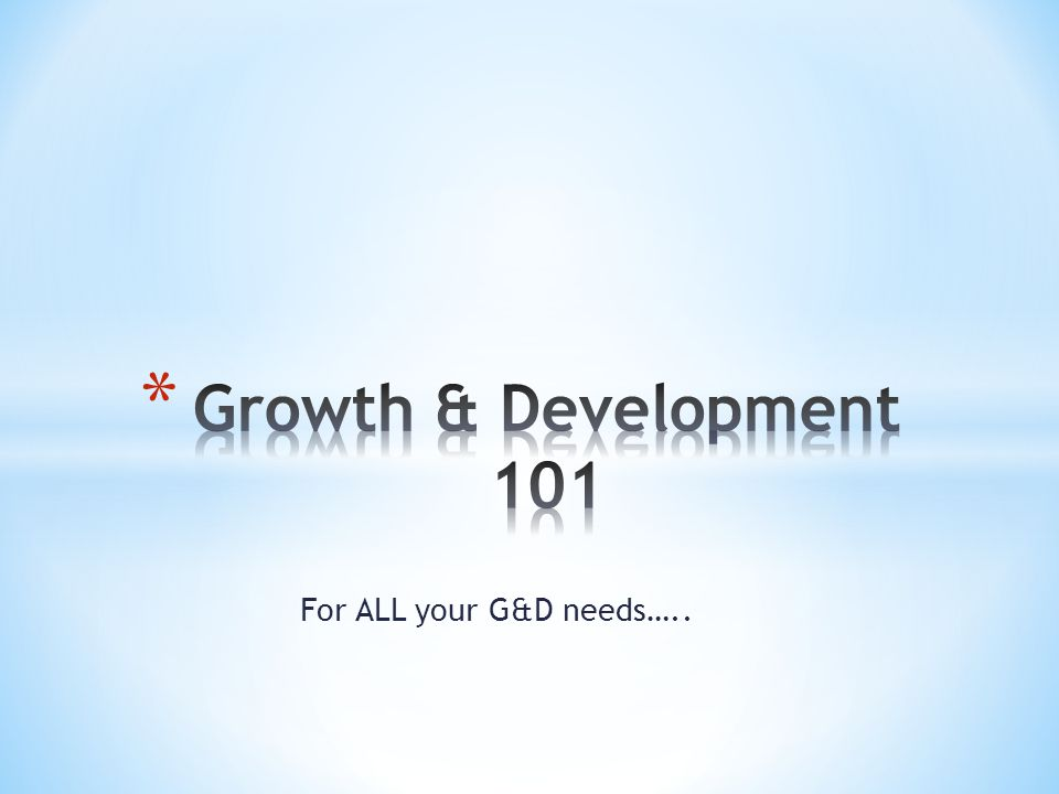 For ALL your G&D needs…..