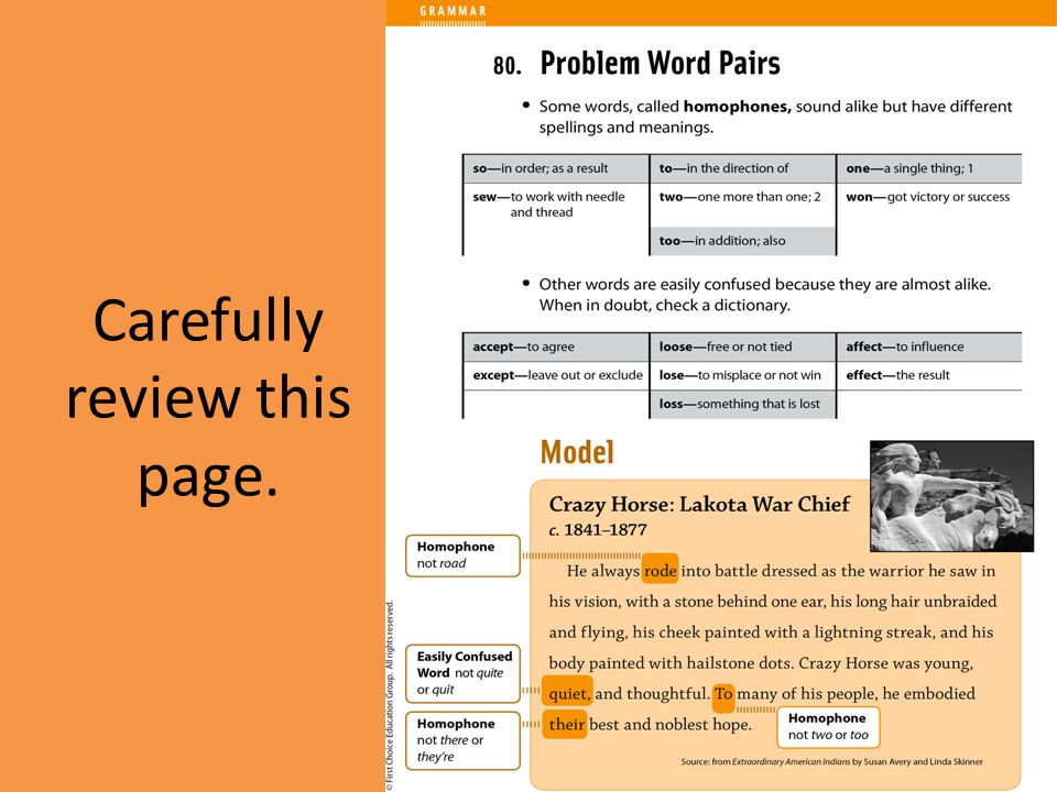 Carefully review this page.