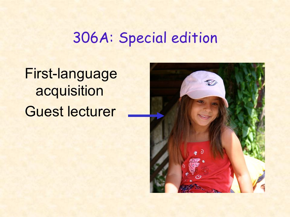 306A: Special edition First-language acquisition Guest lecturer