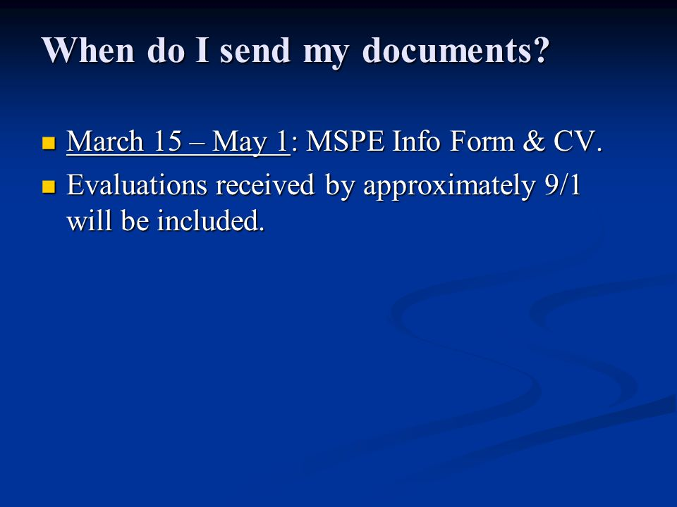 Why can't you add materials received after 5/1 if the MSPE's can't be read until 11/1.