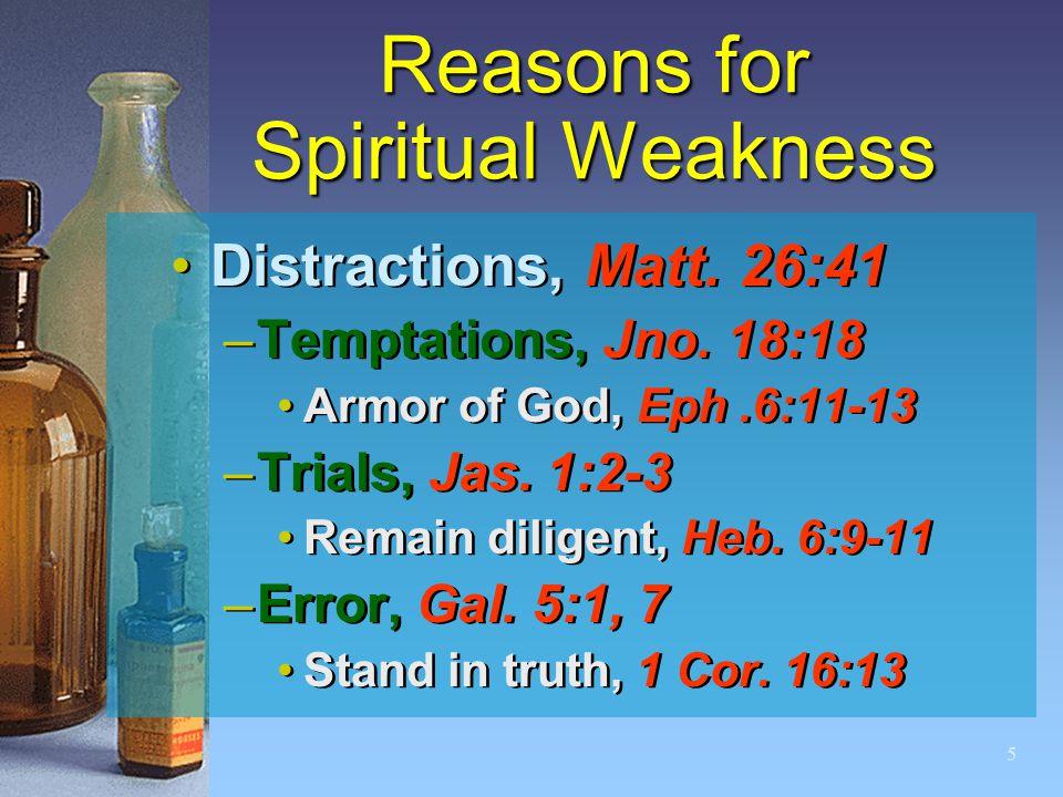 5 Reasons for Spiritual Weakness Distractions, Matt.