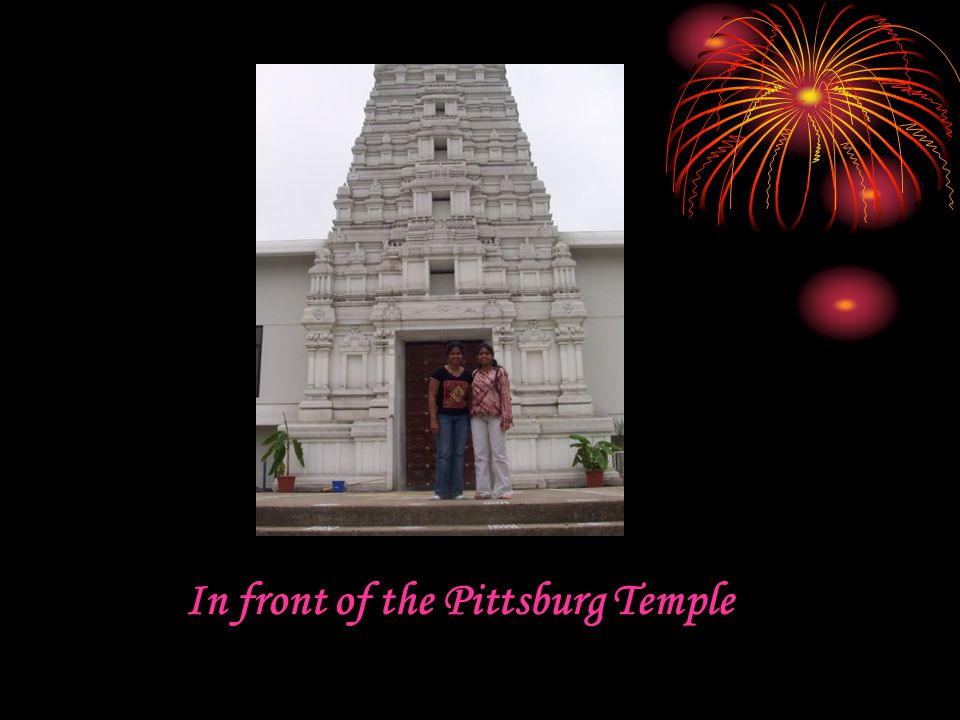 In front of the Pittsburg Temple