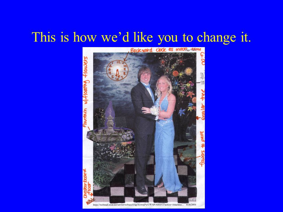More emails > > >>> Rick Harding 5/2/2006 9:35:00 AM >>> > > I just got the color picture of the background you want.