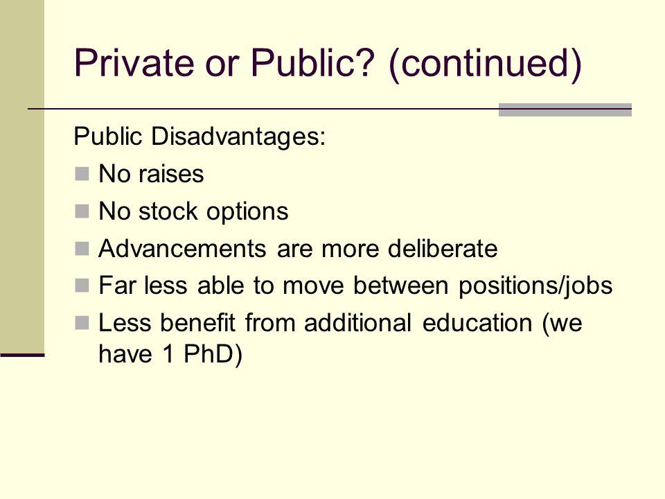 Private or Public.