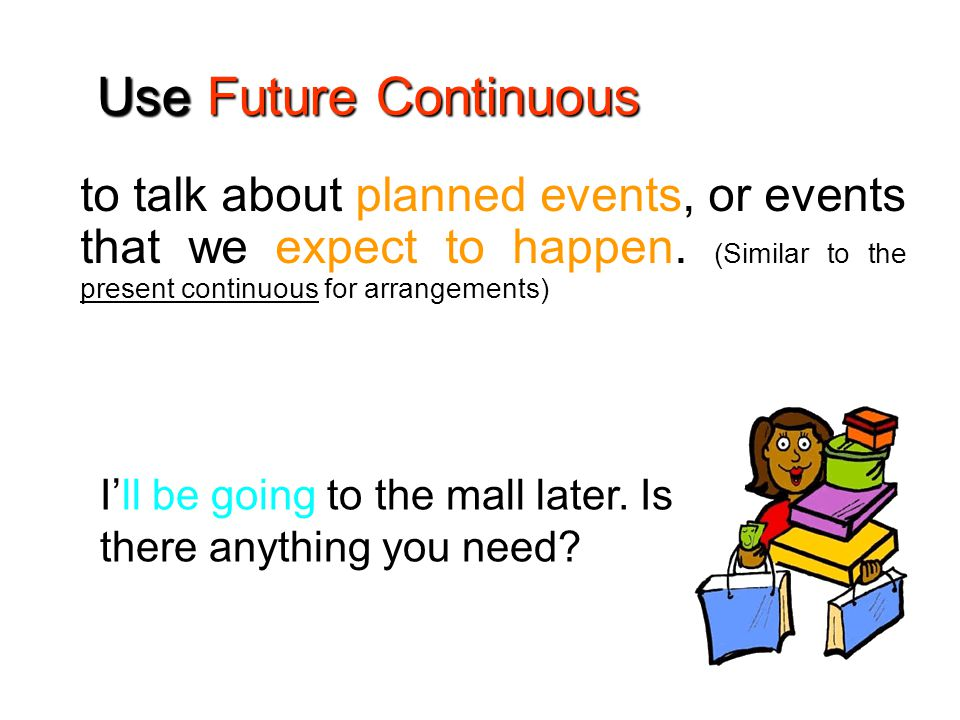to talk about planned events, or events that we expect to happen.