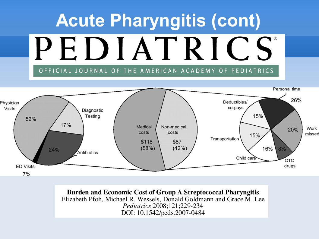 Acute Pharyngitis (cont)