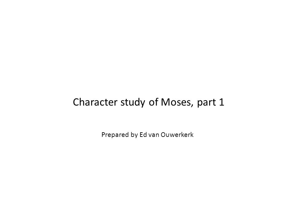Begin Moses' birth story for children