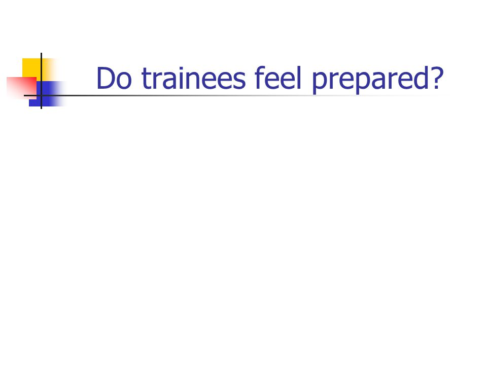 Do trainees feel prepared