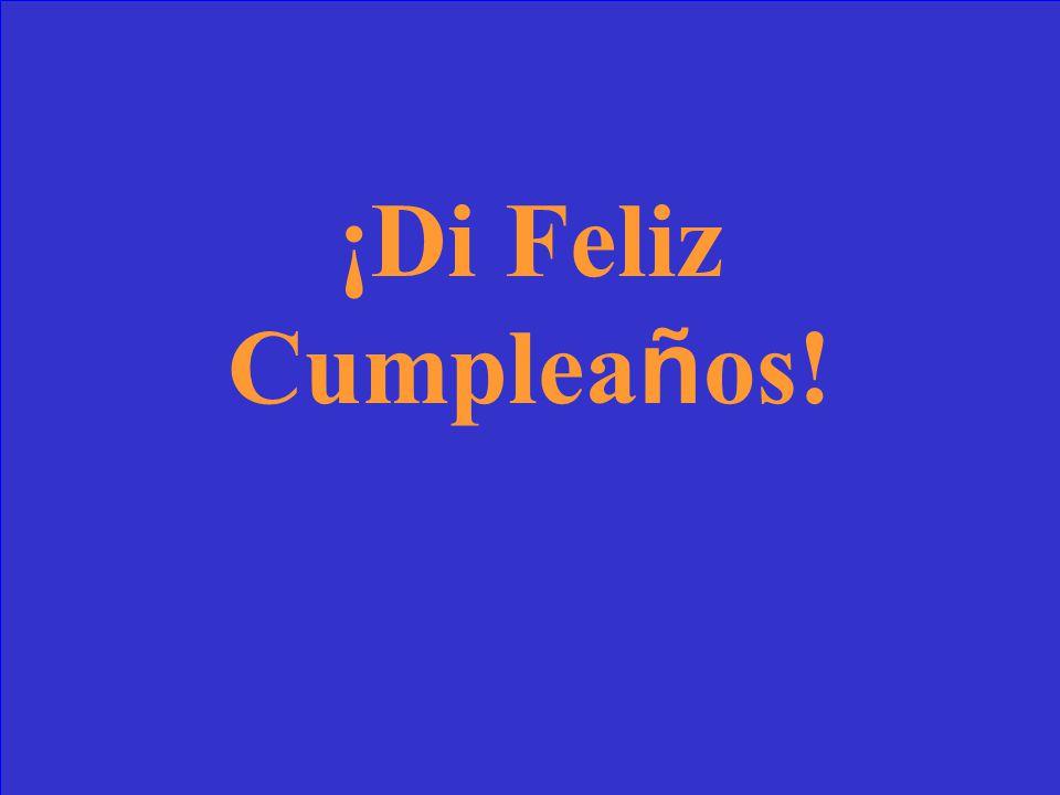 Say Happy Birthday!