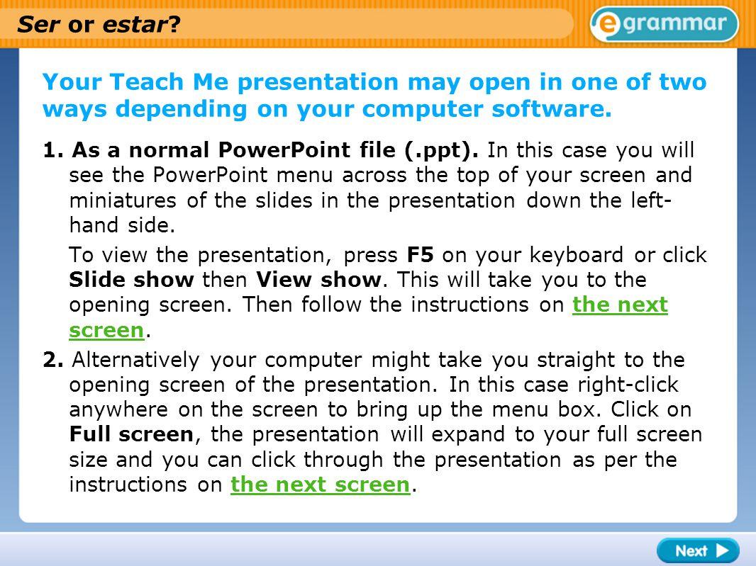 Using estar Estar for location/position; for temporary states (mood, health): Madrid está en España.