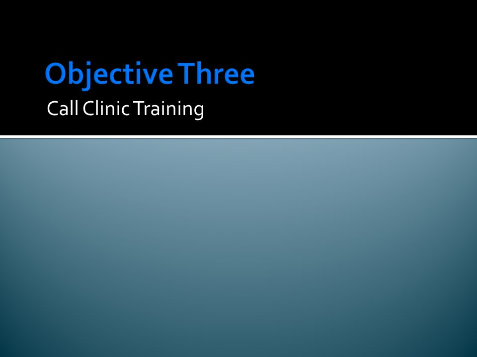 Call Clinic Training