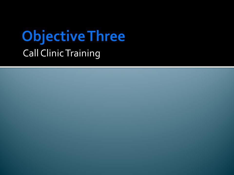 Call Clinic Training