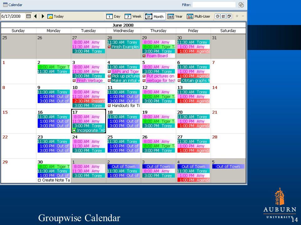 14 Groupwise Calendar