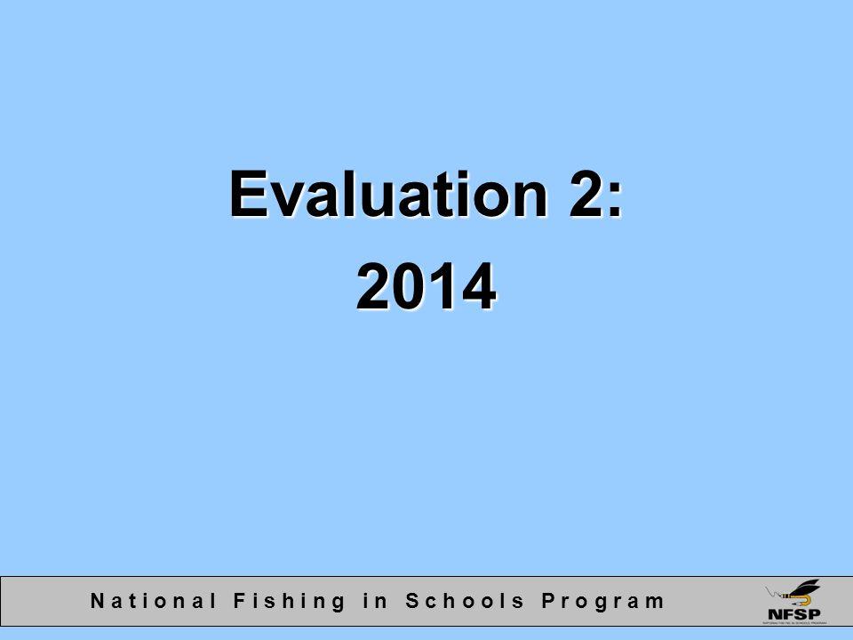 Evaluation 2: 2014 N a t i o n a l F i s h i n g i n S c h o o l s P r o g r a m