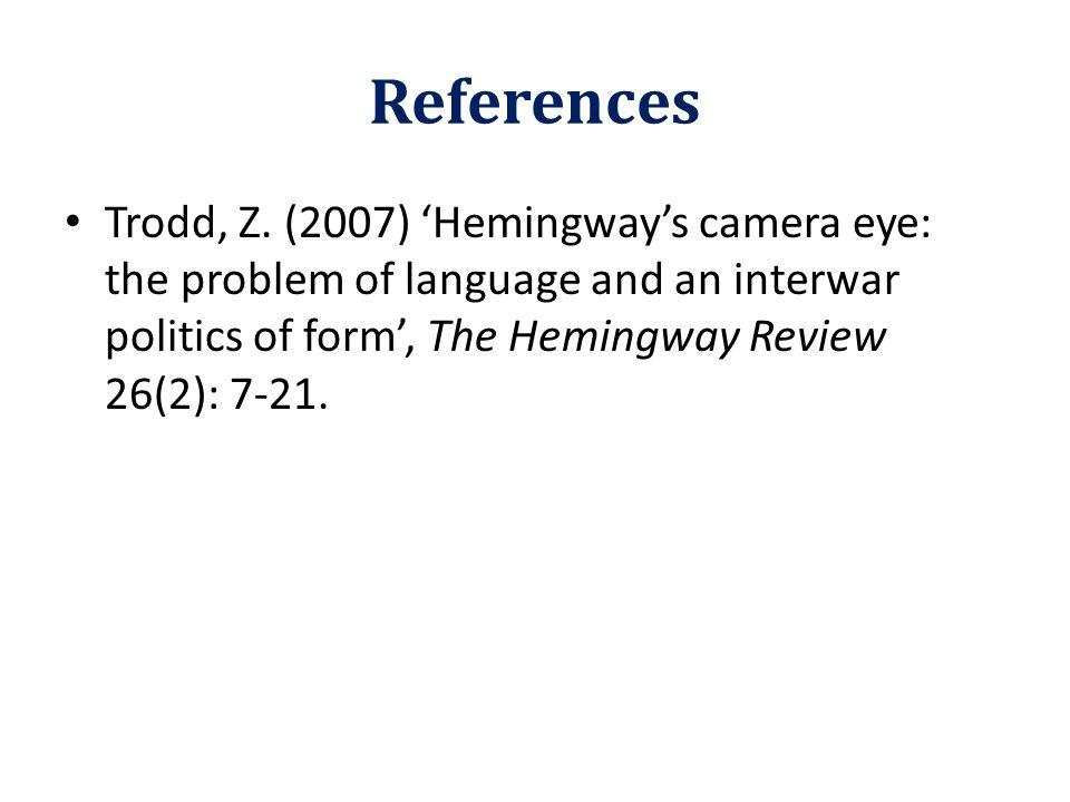 References Trodd, Z.