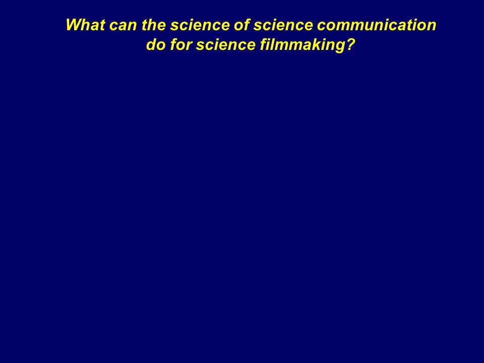 What can the science of science communication do for science filmmaking