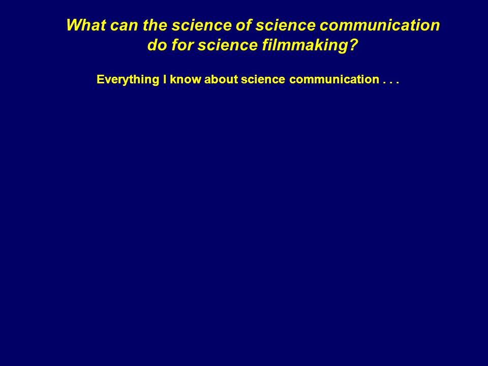 Everything I know about science communication...
