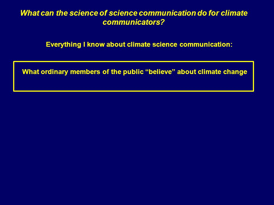 What can the science of science communication do for climate communicators.