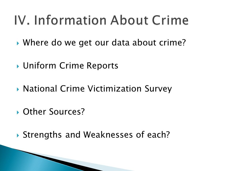  Where do we get our data about crime.
