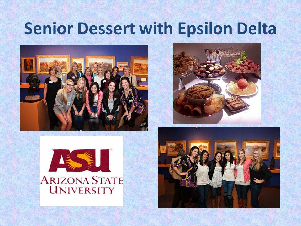 Senior Dessert with Epsilon Delta