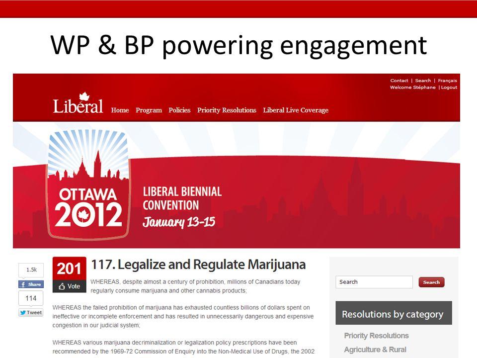 WP & BP powering engagement