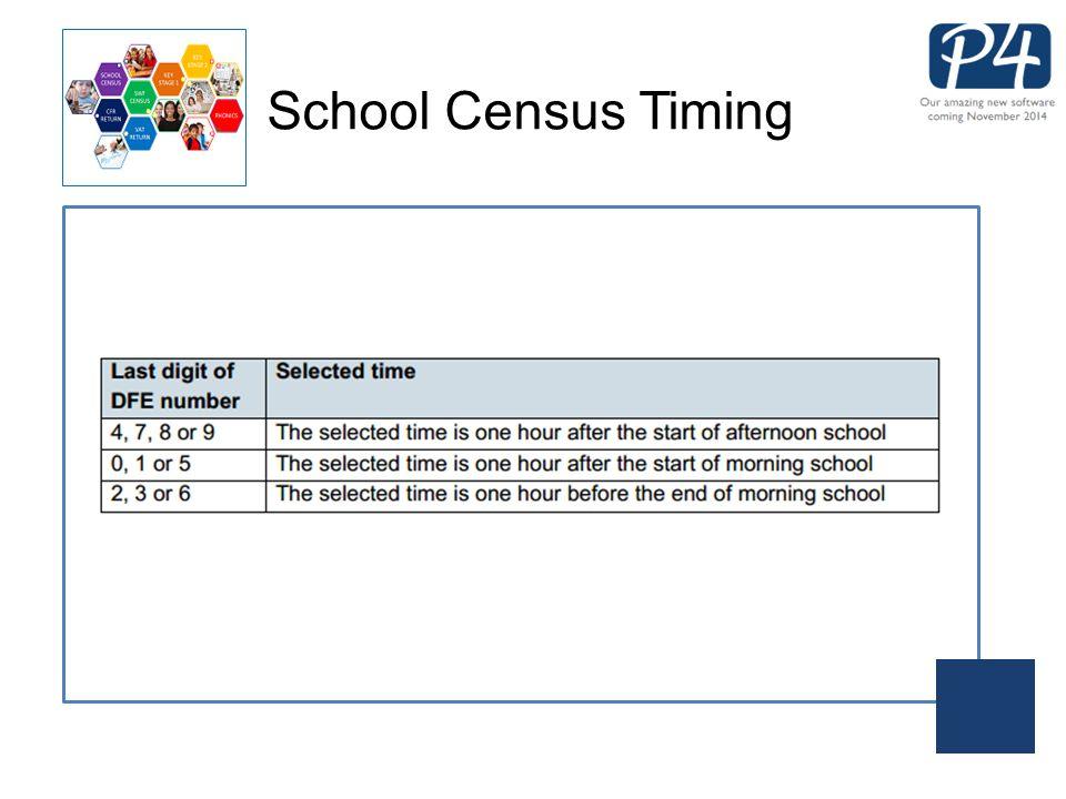 School Census Timing