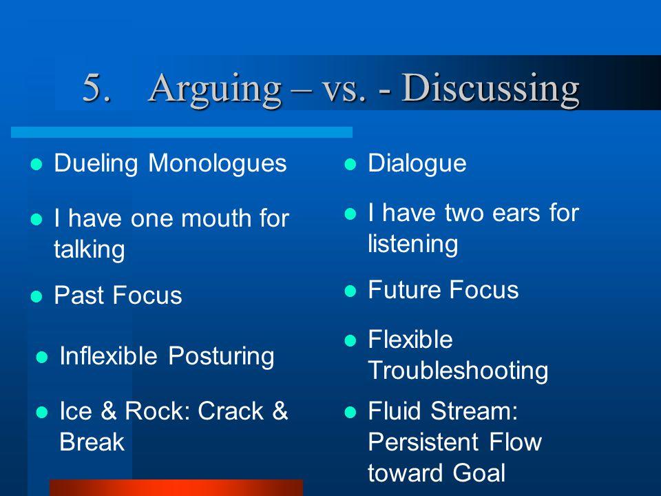 5.Arguing – vs.