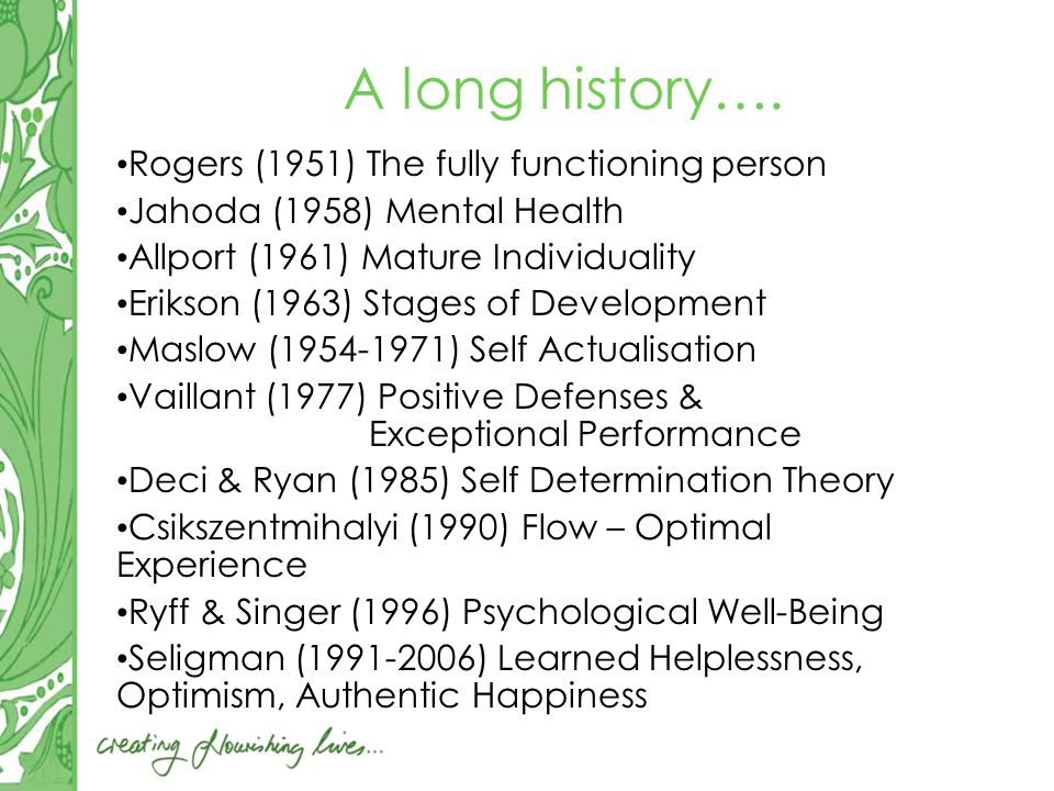A long history….