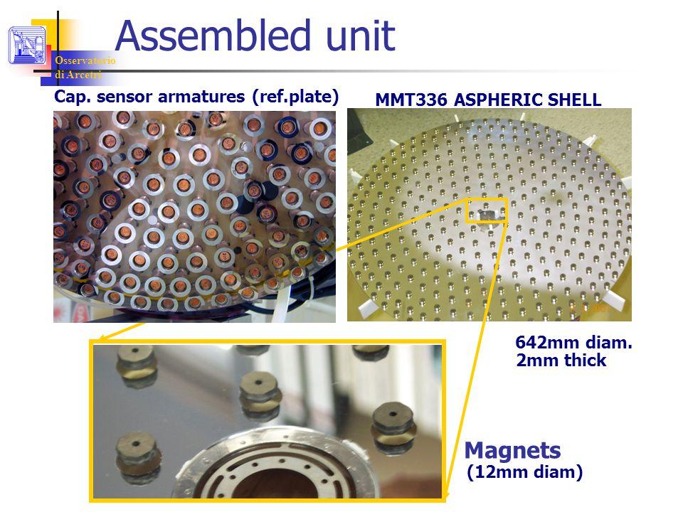 Osservatorio di Arcetri MMT336 ASPHERIC SHELL Assembled unit Magnets 642mm diam.