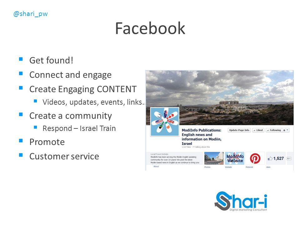 @shari_pw Facebook  Get found.