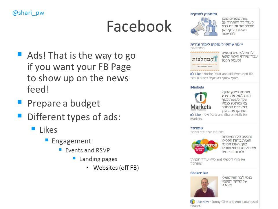 @shari_pw Facebook  Ads.