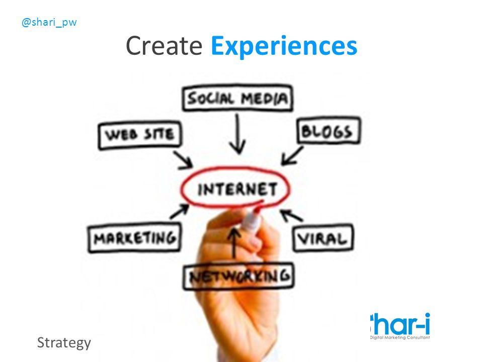 @shari_pw Create Experiences Strategy