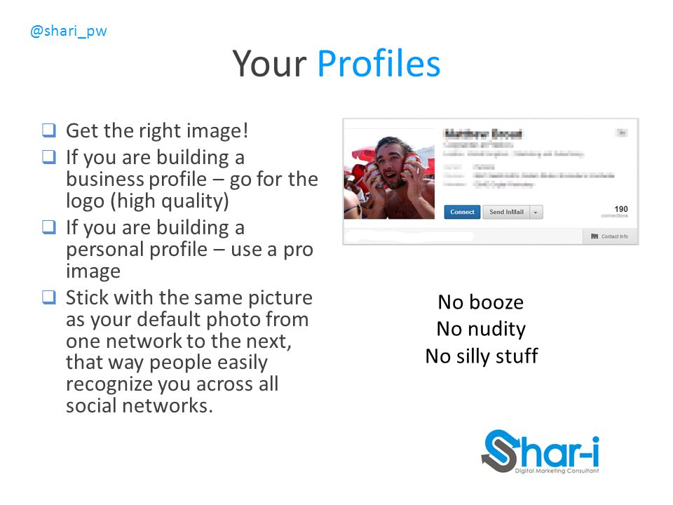 @shari_pw Your Profiles  Get the right image.
